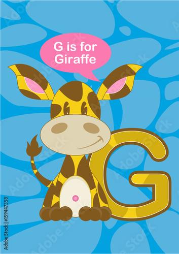 G is for Giraffe Poster