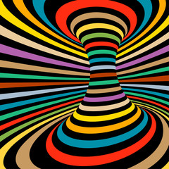 Obraz na SzkleColorful vector op art pattern. Optical illusion abstract background