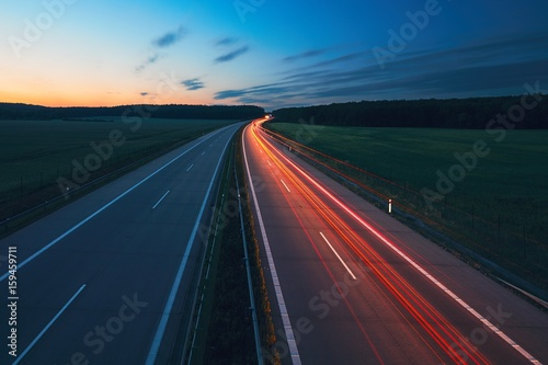 Keuken foto achterwand Nacht snelweg Sunrise on the highway