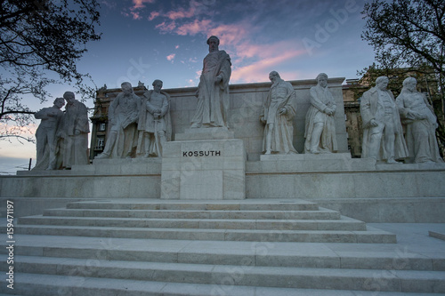 Budapest, Hungary - The sculpture by Luigi Kossuth in front of the Parliament Wallpaper Mural