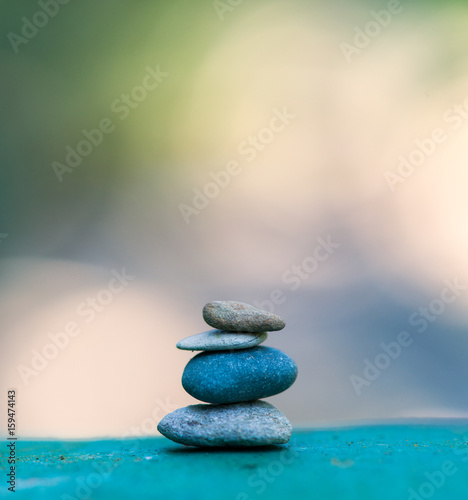 Photo  stone tower. zen stones