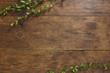 Leinwandbild Motiv Tree branch on rustic wood background