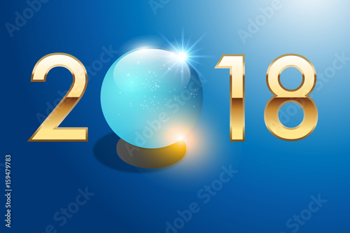 dab96960b119da 2018 - boule de cristal - carte de vœux - voyante - astrologie ...