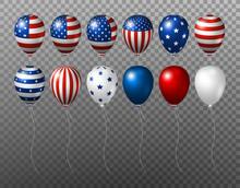 Vector USA Balloon Design Of A...
