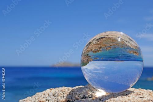 Keuken foto achterwand Kust Costa Smeralda in Kristallkugel, Sardinien, Italien