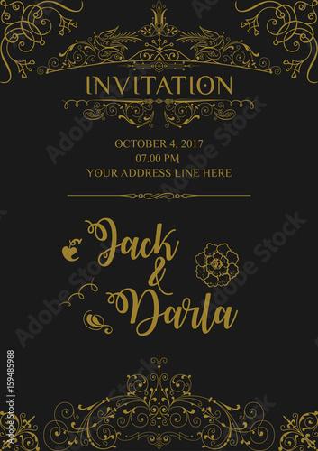 Wedding Invitation Card Design Background Vector