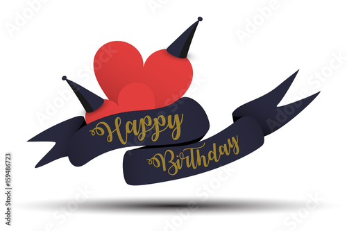 Happy Birthday Typography For Greeting Card Birthday Card