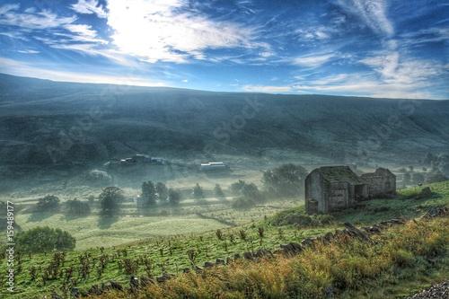 Foto op Plexiglas Groen blauw landscape