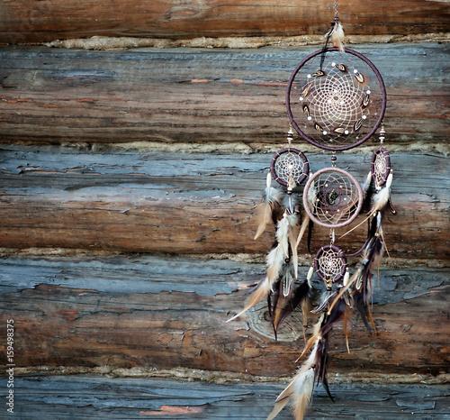 Foto auf AluDibond Boho-Stil Dreamcatcher, spiritual folk american native indian amulet. Shaman