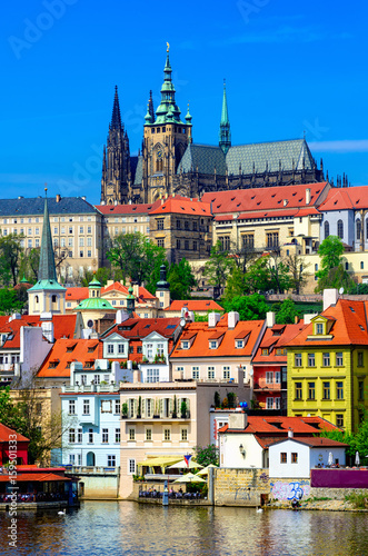 Staande foto Praag Mala Strana (Lesser Town of Prague) and Prague Castle. Prague, Czech Republic
