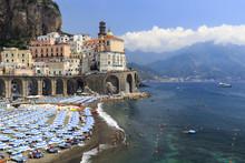 Italy, Campania, Amalfi Coast, Salerno District. Peninsula Of Sorrento. Atrani.