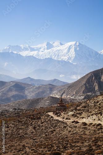 Papiers peints Cappuccino Landscape near Ghami, Upper Mustang region, Nepal