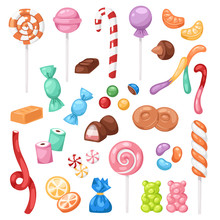 Cartoon Sweet Bonbon Sweetmeat...