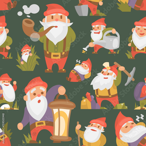 Fairy tale fantastic gnome dwarf elf character magical leprechaun cute fairy ...