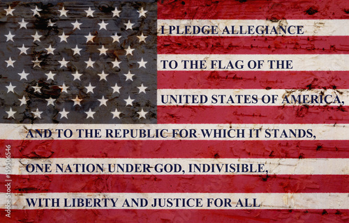 The pledge of allegiance Wallpaper Mural