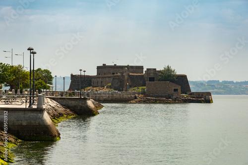 Castle of San Anton in La Coruna, Spain