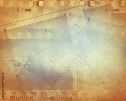 Obraz na plátně  Film strips background
