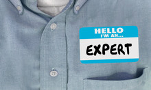 Expert Name Tag Sticker Shirt Worker Employee Staff 3d Illustration