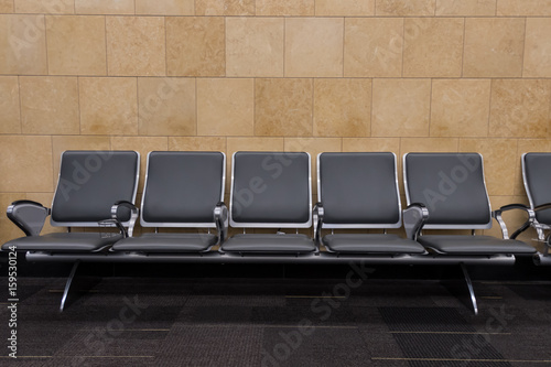 Row of Five Seats in Airport