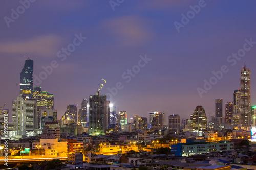 Fototapeta Bangkok skyline Thailand obraz na płótnie