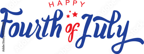 Fotomural  Calligraphic Fourth of July Vector Typography