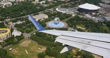 An Aerial View Of The Unispher...