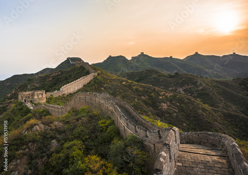 Photo sur Toile Muraille de Chine Great Wall at dusk