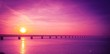 canvas print picture - sunset