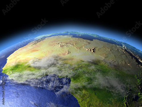 Fototapety, obrazy: North Africa from space