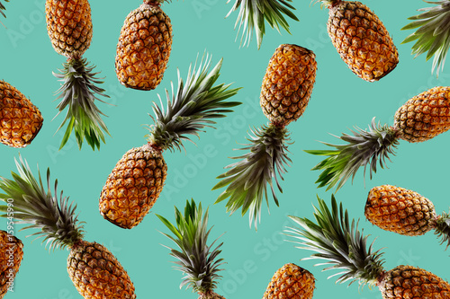 Plakát  Tropical pineapples