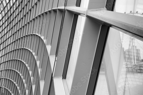Fotografie, Obraz  Structure facade and engineering design., Abstract background.