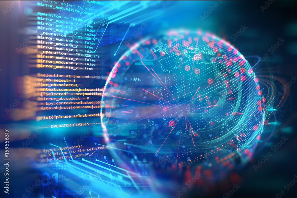 Fototapety, obrazy: Programming code abstract technology background