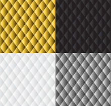Vector, Abstract White Grey, Silver, Black And Gold Upholstery Background