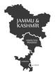 Jammu and Kashmir - Himachal Pradesh - Haryana - Delhi Map Illustration of Indian states