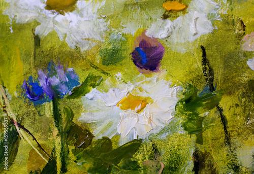 malowane-kwiaty-na-zielonym-tle