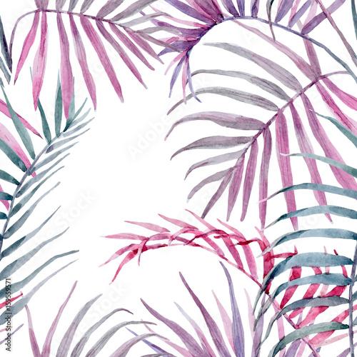akwarela-wektor-tropikalny-wzor-z-lisci