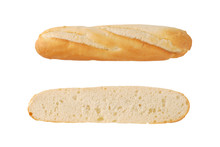 Halved French Baguette