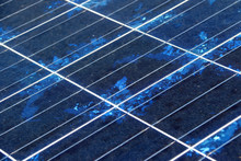 Close-up Of Solar Panel Texture