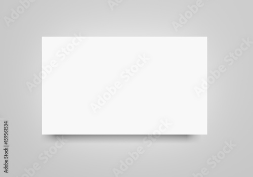 Cadres-photo bureau Taupe White flat 3d rendering blank banner paper sheet mockup on light grey background. Flayer, poster template for your design.