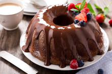 Chocolate Bundt Cake With Berries