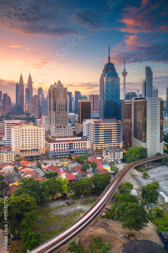 Photo Stands Kuala Lumpur Kuala Lumpur. Cityscape image of Kuala Lumpur, Malaysia during sunrise.
