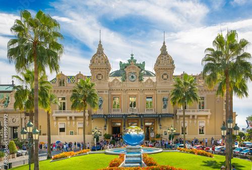 Poster Abou Dabi Monaco, Monte Carlo - September 17, 2016: The Grand casino Monte Carlo, gambling and entertainment complex in Cote de Azul.