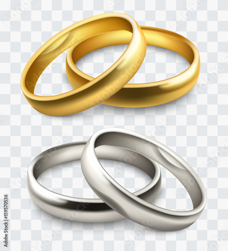 Fotografie, Obraz  vector wedding rings