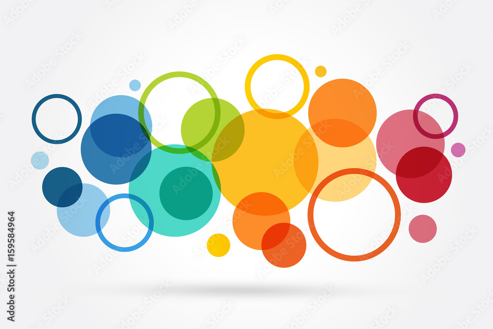 Fototapety, obrazy: abstrait cercle