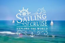 Sailing Cruise Logo On Blurred...