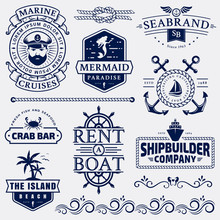 Sea And Nautical Logos And Des...