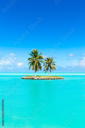 Staande foto Eiland Urlaub auf einer einsamen Insel in den Tropen