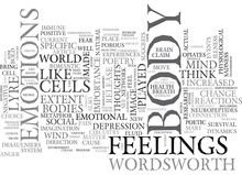 YOU ARE WHAT YOU FEEL TEXT WORD CLOUD CONCEPT