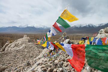 Prayer flags in Leh ladakh,India