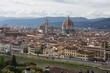 Panoramic view over Florence Italy with city river, Tuscany, Italy.